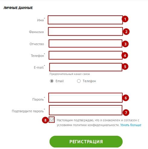 Анкета регистрации участника