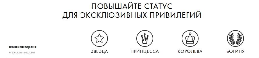 Статус участника программы лояльности Санлайт