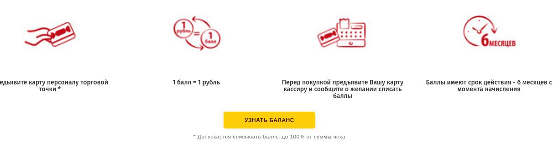 Проверка баланса дисконтной карты Славянка