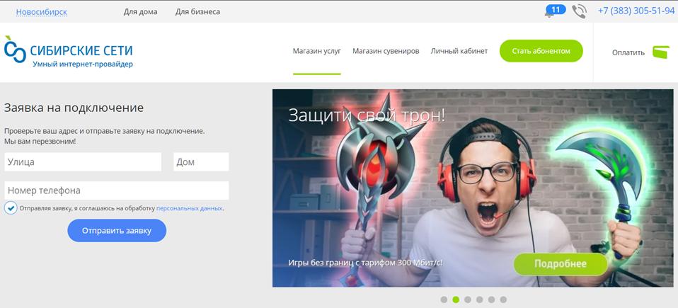 сайт сибирские сети
